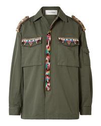 Valentino Embellished Cotton Gabardine Jacket