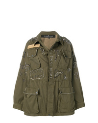 John Richmond Embellished Parka Coat