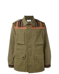 Fashion Clinic Timeless Embroidered Panel Field Jacket