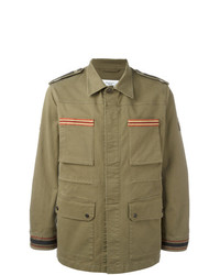 Fashion Clinic Timeless Embroidered Trim Field Jacket