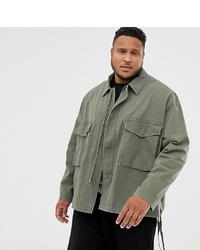 ASOS DESIGN Plus Utility Jacket In Khaki