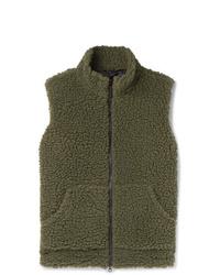 Aspesi Wool Blend Fleece Gilet