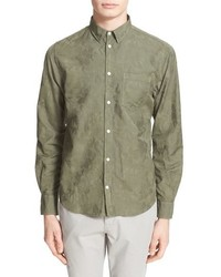 Olive Floral Long Sleeve Shirt