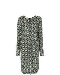 Olive Floral Midi Dress
