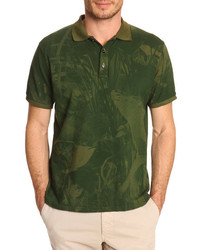 Olive Floral Polo