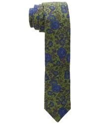 Olive Floral Tie