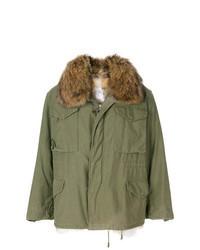 Olive Fur Collar Coat