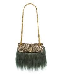 Olive Fur Crossbody Bag