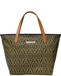 Downtown glazed canvas tote medium 778428