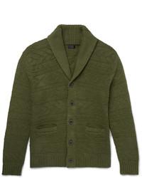 J.Crew Shawl Collar Knitted Cotton Cardigan