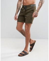 777479f6a9 ... Asos Swim Shorts In Khaki With Geo Tribal Belt In Mid Length