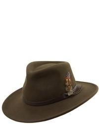 Classico crushable felt outback hat black medium 30563