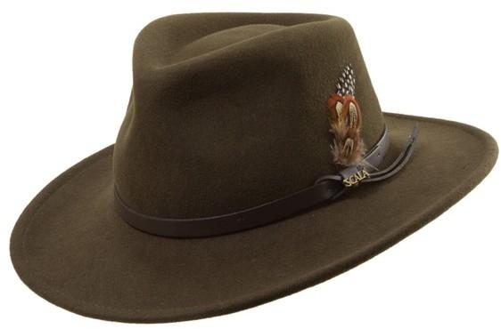 554c0318dde16 ... Scala Classico Crushable Felt Outback Hat ...