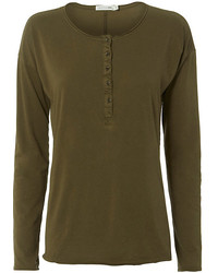 Olive Henley Shirt