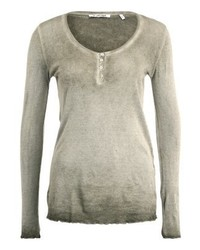 Rich & Royal New Vintage Long Sleeved Top Military Olive