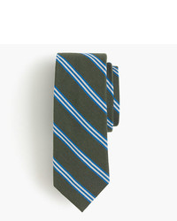 J.Crew English Wool Silk Tie In Multistripe