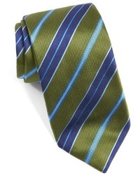 Olive Horizontal Striped Tie