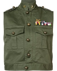 Dsquared2 Golden Arrow Sleeveless Jacket