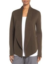 Eileen Fisher Petite Silk Organic Cotton Sweater Jacket