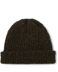 Inis Meáin Ribbed Merino Wool And Cashmere Blend Beanie