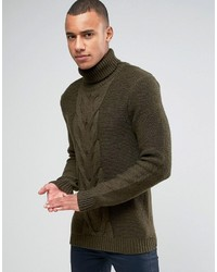 Roll neck knit with cable front detail medium 1127090