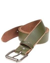 Olive Leather Belt