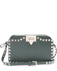 Rockstud leather cross body bag medium 1156605