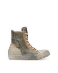 Rick Owens Babel Hi Top Sneakers