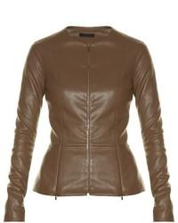 The Row Anasta Collarless Leather Jacket