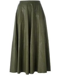 MM6 MAISON MARGIELA Leather Effect Maxi Skirt