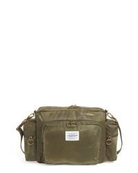 Olive Leather Messenger Bag