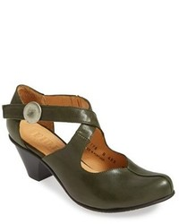 Olive Leather Pumps