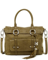 Olive Leather Satchel Bag