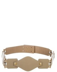 Olive Leather Waist Belt