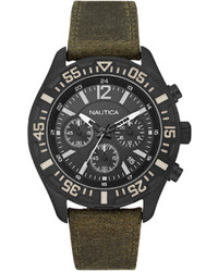 Olive Leather Watch