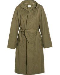 Toile isabel marant daker shell trench coat army green medium 732263