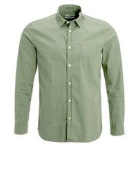 Slim fit shirt khaki green medium 3779593