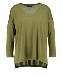 Long sleeved top basic olive medium 3886853