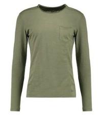 Long sleeved top olive medium 4203524