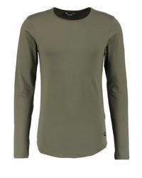 Onsmatt longy muscle fit long sleeved top olive night medium 4159233