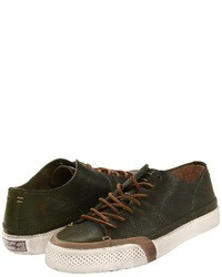 Olive Low Top Sneakers