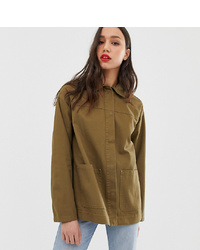 Asos Tall Asos Design Tall Utility Washed Cotton Jacket