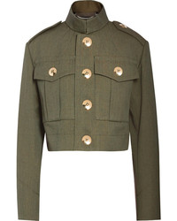 Marc Jacobs Cropped Wool Gabardine Jacket