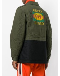 Gucci Embroidered Military Jacket