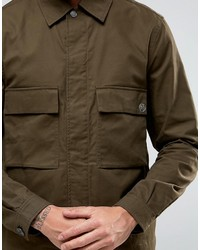 Paul Smith Ps By Military Jacket In Khaki