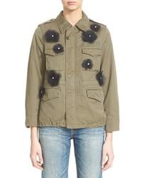 Tu Es Mon Tresor Tulle Flower Military Jacket