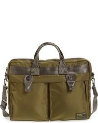 Olive Nylon Briefcase