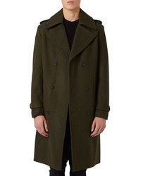 Topman Longline Trench Coat