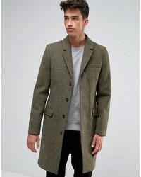 Jack Wills Overcoat Made In The Uk In Dark Green