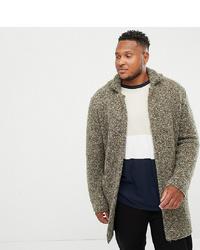 ASOS DESIGN Plus Heavyweight Textured Duster Jacket In Khaki